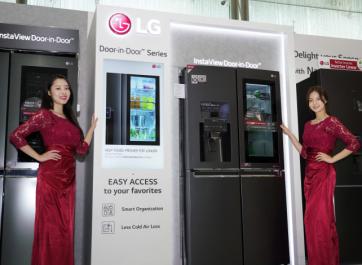 Les réfrigérateurs Slimmed Down de LG : plus minces et aliments plus frais.