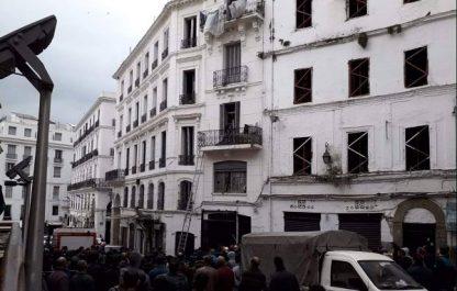 En direct : effondrement des étages d'un immeuble au niveau de la Basse Casbah