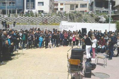 """""""Révolte'arts"""" pour perpétuer la révolution pacifique: Les artistes réinvestissent l'espace public à Tizi Ouzou"""