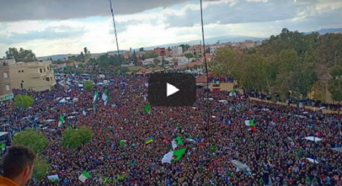 Manifestation massive à Bordj Bou Arreridj [vidéo]
