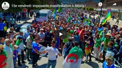 15e vendredi: imposante manifestation à Béjaïa !