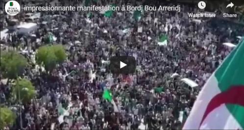 15 vendredi: impressionnante manifestation à Bordj Bou Arreridj [vidéo]