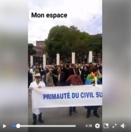 Vidéo : Marche commune des étudiants, avocats et corps médical à Tizi Ouzou