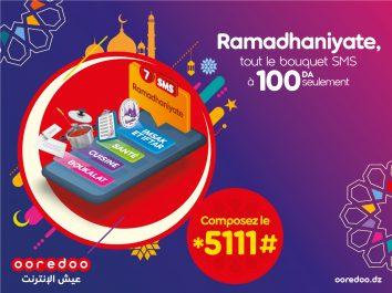 Durant le mois sacré, bénéficiez du service « Ramadanyate » de Ooredoo à partir de 1 DA seulement