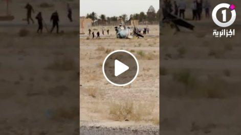 Maj: Crash d'un hélicoptère à l'aéroport de Guemar à El Oued [vidéo]