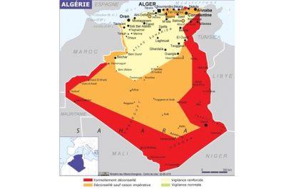 L'Algérie dans la nouvelle carte du Quai d'Orsay !