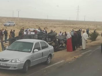 El Oued: un accident de la circulation fait 7 morts [photos]
