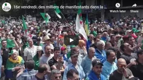 16e vendredi: des milliers de manifestants dans la rue à Tizi Ouzou