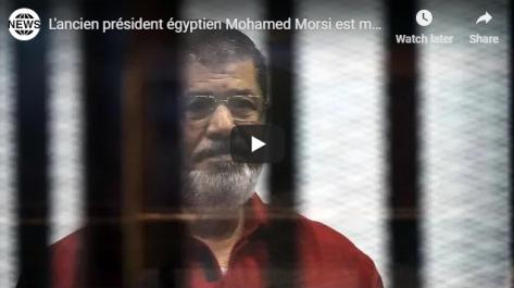 Égypte : l'ex-président égyptien Mohamed Morsi meurt en plein procès [vidéo]