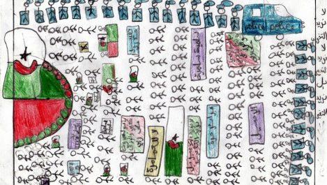 El Hirak, thème d'un workshop dessin avec les enfants : Redessiner l'Algérie avec Fatima Chafaâ