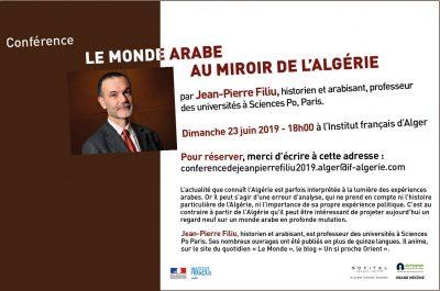 «Le Monde arabe au miroir de l'Algérie» : Conférence à l'IFA