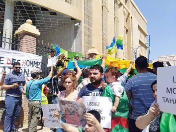 Rassemblement devant le tribunal d'Akbou pour exiger la libération des détenus d'opinion ! [Photos]