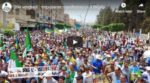 20e Vendredi : les Béjaouis toujours mobilisée !