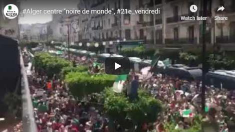 Alger-centre « noire de monde » pour le 21e vendredi consécutif !