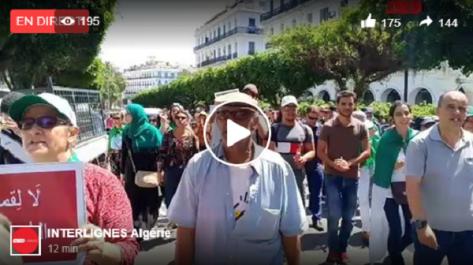En direct : La marche des étudiants à Alger pour le 21 ème Mardi