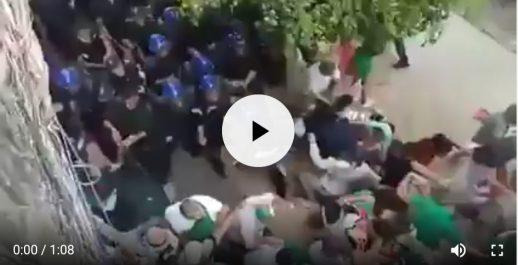 Des manifestants violemment matraqués par des policiers à la manifestation d'alger !