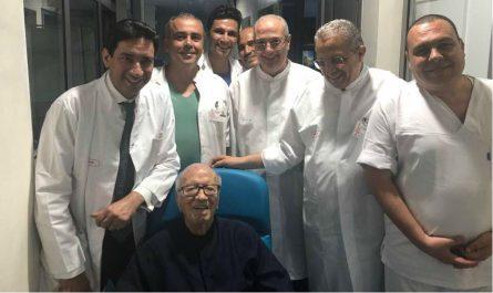 Le président tunisien a quitté «en bonne santé» l'hôpital militaire