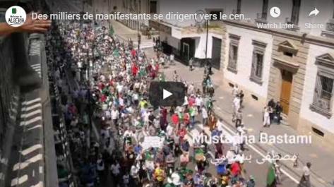 Des milliers de manifestants se dirigent vers le centre-ville d'Alger !