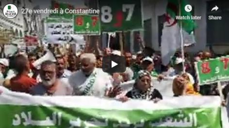 27e vendredi : Participation massive des Constantinois