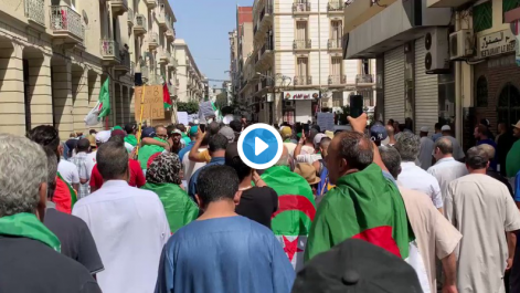 27e vendredi de la révolution pacifique à Oran