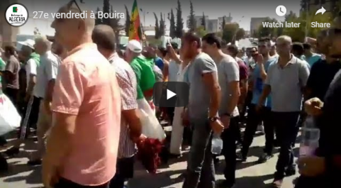 27e vendredi : Grande manifestation à Bouira