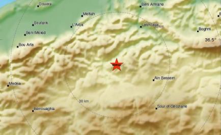 Bouira secoué par un séisme de magnitude 4 !