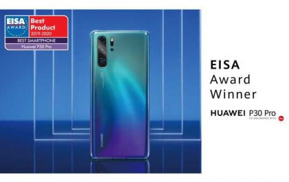 Huawei remporte le prix EISA du «Meilleur Smartphone de l'année» avec le P30 Pro