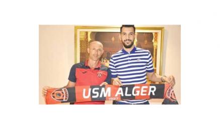 USM Alger: Hichem Belkaroui rejoint les Rouge et Noir