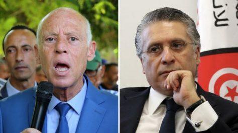 Présidentielle tunisienne : les deux candidats anti-système Kais Saied et Nabil Karoui revendiquent leur passage au second tour