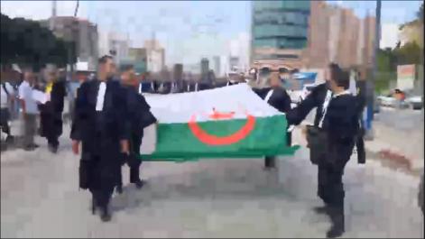 Vidéo : Marche et grève générale des robes noires aujourd'hui à Béjaïa