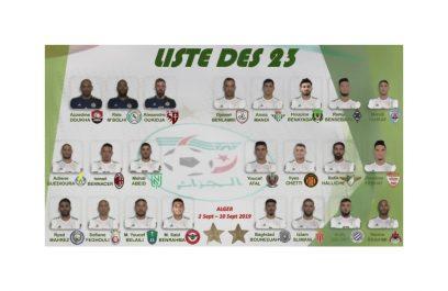 Djamel Belmadi dévoile la liste des 23 joueurs !
