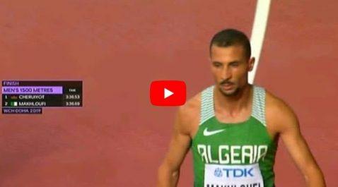 Mondiaux-2019 : Makhloufi qualifié pour la finale du 1500m [vidéo]