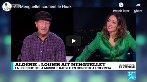 Le chanteur algérien Aït Menguelet adresse un message aux manifestants