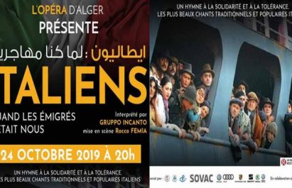 Spectacle : «Italiens : quand les émigrés c'était nous» à Alger