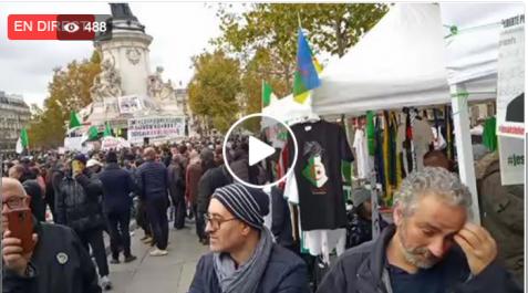 Live: nouveau rassemblement de la diaspora Algérienne à Paris