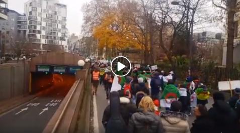 Impressionnante marche de la diaspora à Bruxelles