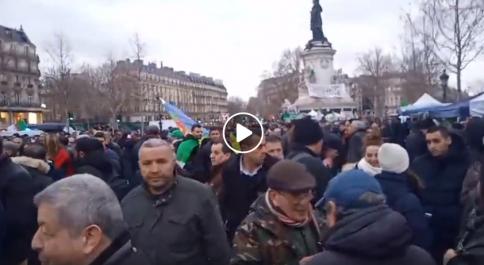 La diaspora algérienne se mobilise en France contre Abdelmadjid Tebboune