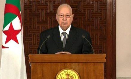 Abdelkader Bensalah lance un appel aux algériens