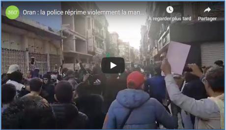 🔴 Vidéo | Manifestation violemment réprimée à Oran