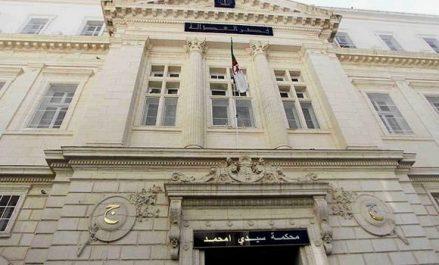 Le parquet près du Tribunal Sidi M'hamed publie les jugements prononcés