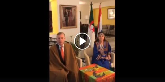 L'ambassadeur des Pays-Bas et sa Femme présentent leurs vœux de Yennayer aux algériens