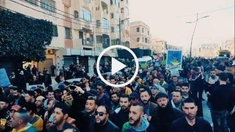 Participation massive au 51e vendredi à Béjaïa
