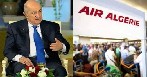 Ce qu'a dit Tebboune sur la gréve des PNC d'Air Algérie
