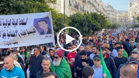 Début de la marche du 22 février à Alger