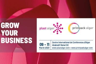 Le Plast & printpack Alger 2020 du 09 au 11 mars au CIC Abdelatif Rahal