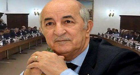 Tebboune présidera aujourd'hui un Conseil des ministres